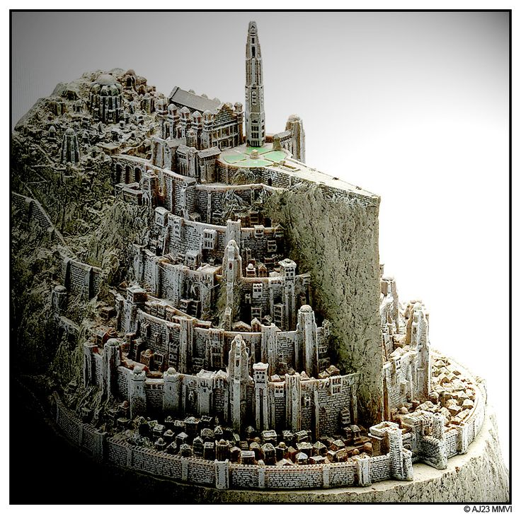 Minas Tirith a city carved in rocks !! they left a huge part of the rock all…