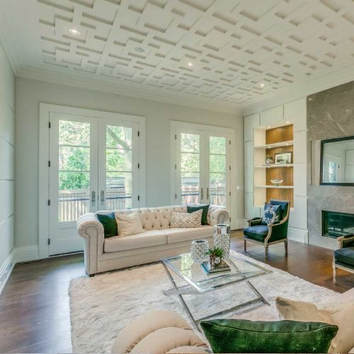 Residential architecture by Toronto architect, Lorne Rose. These images are of a property in the Forest Hill neighbourhood of Toronto. #architecture #toronto #luxury #home #renovation #residentialarchitect #architect #modern #foresthill #interior #design #decoration #interiordesign #interiordecorating #couch #window #naturallight #relaxing #shelving #white