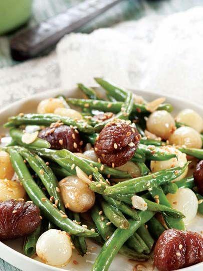 Kestaneli sıcak fasulye salatası Tarifi - Dünya Mutfağı Yemekleri - Yemek Tarifleri
