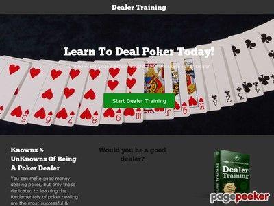 nice #Online Poker Dealer School
