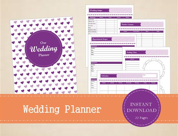 Wedding Planner  Wedding Binder  Printable by MBucherConsulting