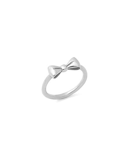 Love!  Sterling Silver Bow Tie-Inspired Ring