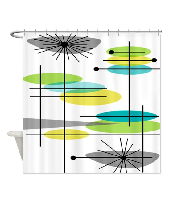 Mid-Century Modern Shower Curtain | zulily.   $49. Rings not included 69'' W x 70'' H Polyester