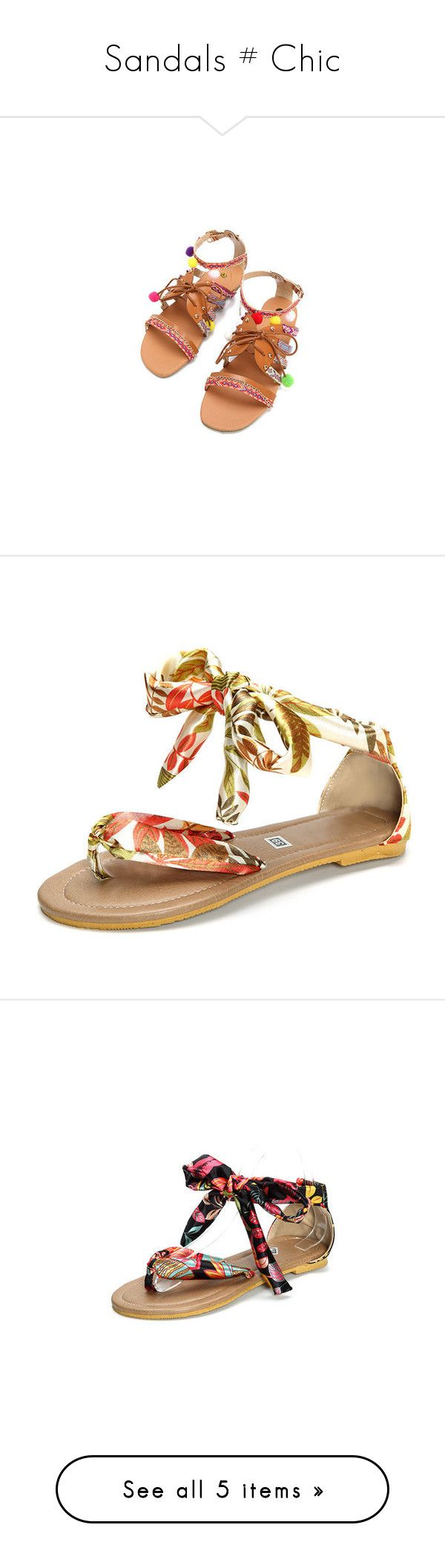 """Sandals # Chic"" by lovenewchic ❤ liked on Polyvore featuring shoes, sandals, colorful, buckle sandals, flat sandals, colorful sandals, summer flat sandals, summer flats, white and strap sandals"