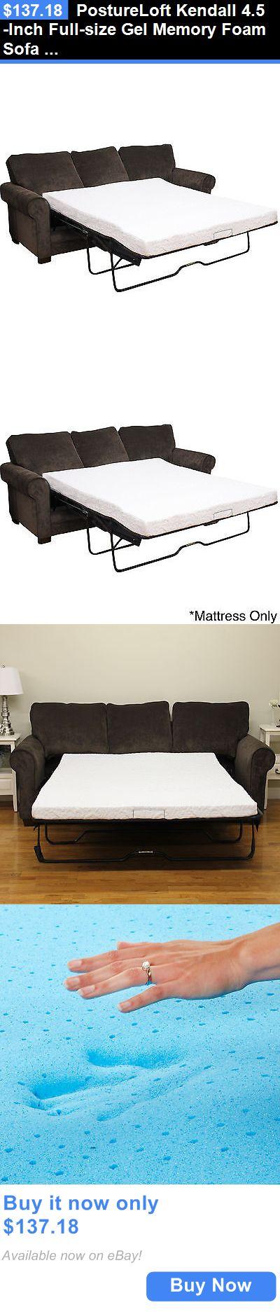 Bedding: Postureloft Kendall 4.5-Inch Full-Size Gel Memory Foam Sofa Bed Mattress BUY IT NOW ONLY: $137.18