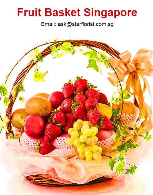 Fruit Baskets make a healthy and fresh alternative to flowers. We have a delicious selection of baskets packed with many types of exotic fresh fruits. We are one of the leading portals for fresh fruit basket delivery to whole Singapore. It is an ideal gift for many occasions with timely fruits basket delivery. Our Get Well Flower Basket is florist-selected, hand-packaged basket of fresh, mixed fruits & flowers. We offer same day delivery by order before 12 noon.