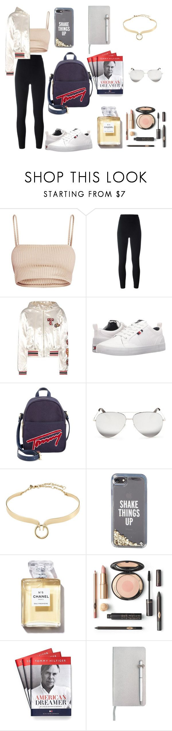 """""""Tommy Hilfiger 🤗"""" by hanin-elsamad ❤ liked on Polyvore featuring adidas Originals, Tommy Hilfiger, Victoria Beckham, Alexis Bittar, Kate Spade and ICE London"""