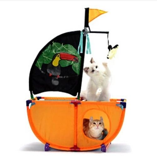 Cat toy,Cat pirate ship game park,