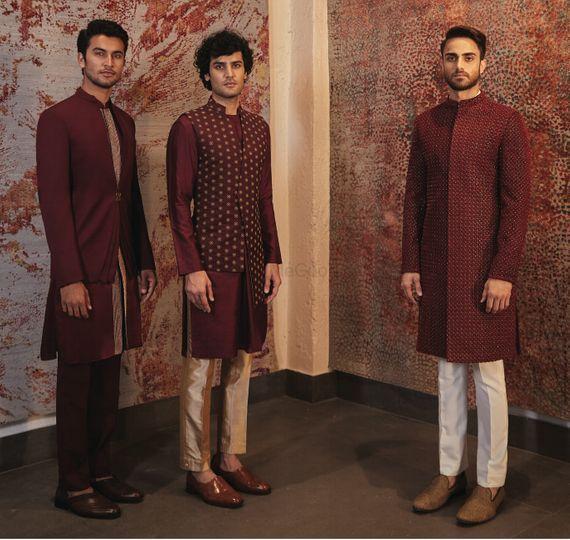 Portfolio Of Sarah Sandeep Groom Wear In Mumbai Wedmegood Indian Men Fashion Designer Clothes For Men Mens Kurta Designs