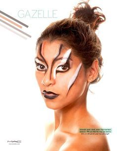 Gazelle Facepaint on Pinterest | Yellow Makeup, Dark Beauty ...