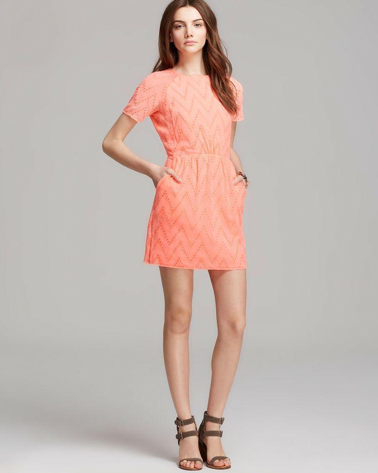 DV Dolce Vita Dress - Saurus Chevron Eyelet Lace | Bloomingdale's