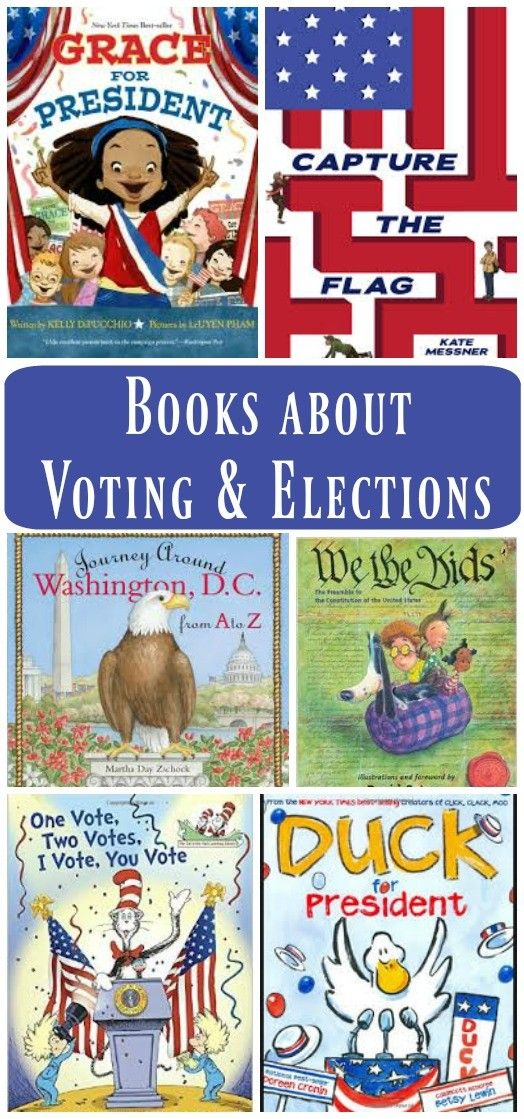 Introduce your kids to the concepts and events of Election Day with these great books that discuss voting, elections and our Nation's capital and government.