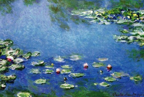 Schilderijbehang - Monet - Waterlelies
