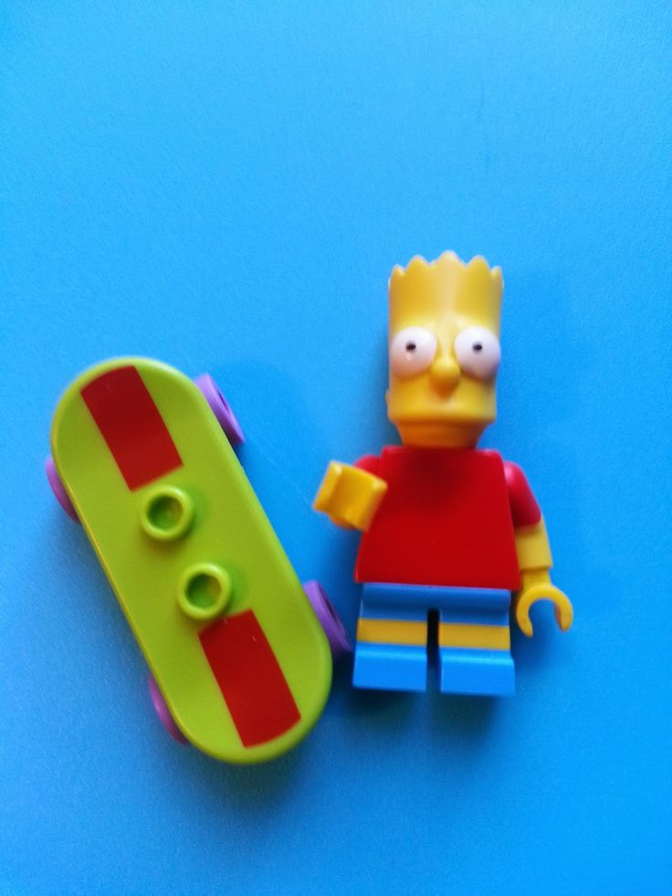 Minifigura Lego. Bart Simpson. Serie