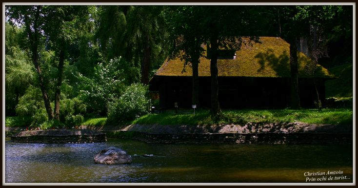 Taken at Bran Castle. little cabin by the lake...