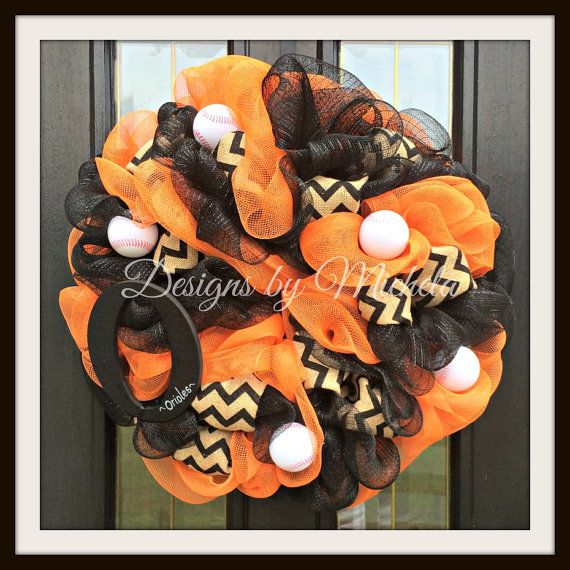 Baltimore Orioles Baseball Wreath BR087 by DesignsByMichela