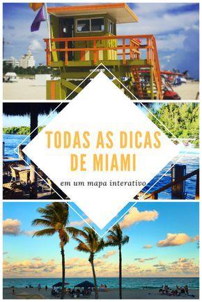 Todas as dicas de Miami (70+) em um mapa interativo - All Miami tips (70+) on an interactive map