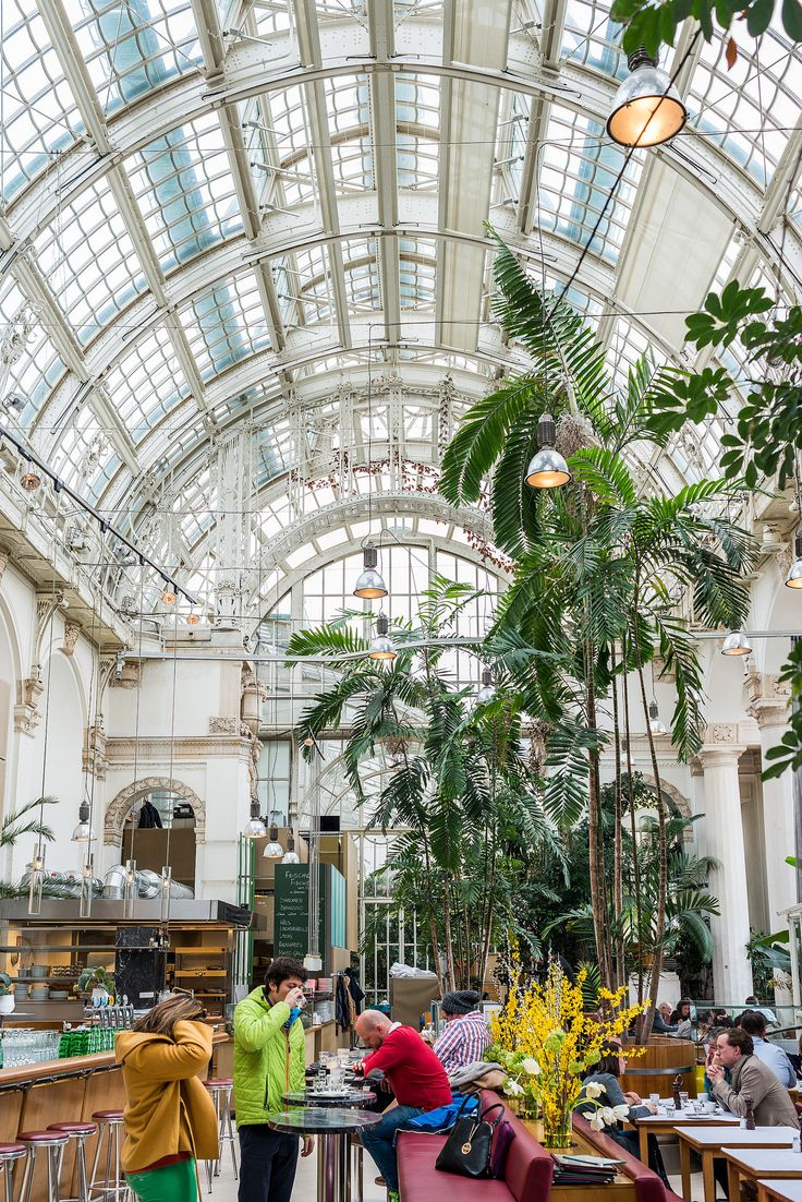 Vienna, Austria - Palmenhaus: A classy restaurant with a view - inside and outside. First District.