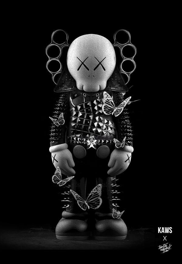 Black   黒   Kuro   Nero   Noir   Preto   Ebony   Sable   Onyx   Charcoal   Obsidian   Jet   Raven   Color   Texture   Pattern   Styling    FANTASMAGORIK® DARK KAWS by obery nicolas, via Behance