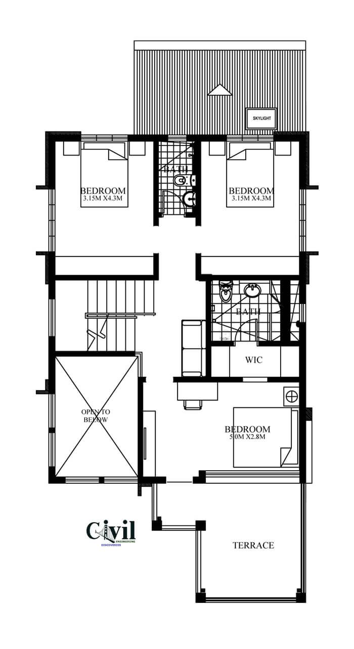 Home Design Plan 8x14m With 4 Bedrooms Engineering Discoveries Modern House Plans House Design Contemporary House Design