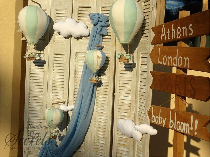 Στολισμός βάπτισης με αερόστατα σε βεραμαν και σιελ