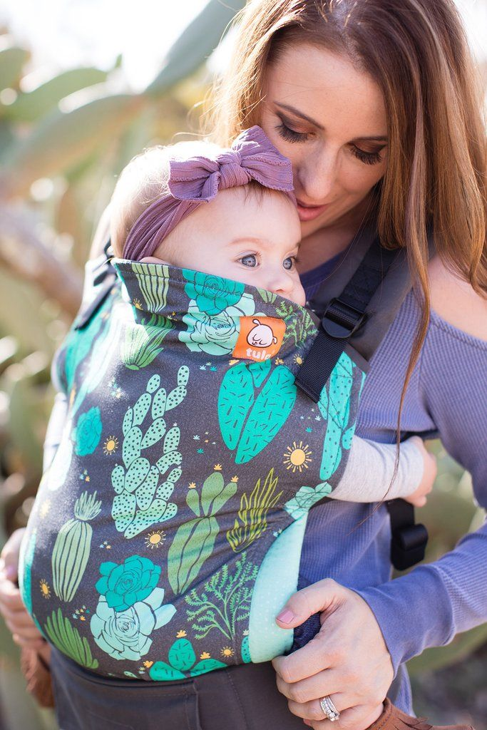 Cacti Tula Baby Carrier! Adorned is desert flora and sunbursts - cactus and succulents.