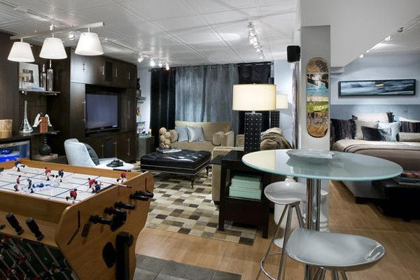 Beau Cool Teen Hangout/game Room For This Basement Makeover, Candice Transformed  An Empty Basement Into A Hip Teen Bedroom That Also Doubles As A Family  Hangout.