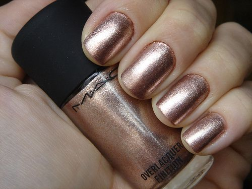 MAC Nail PolishNails Polish Mac, Mac Nails Polish, Rose Gold Nails, Gold Coast, Pretty Colors, Beautiful, Pretty Nails, Gel Nails, Mac Makeup Nails