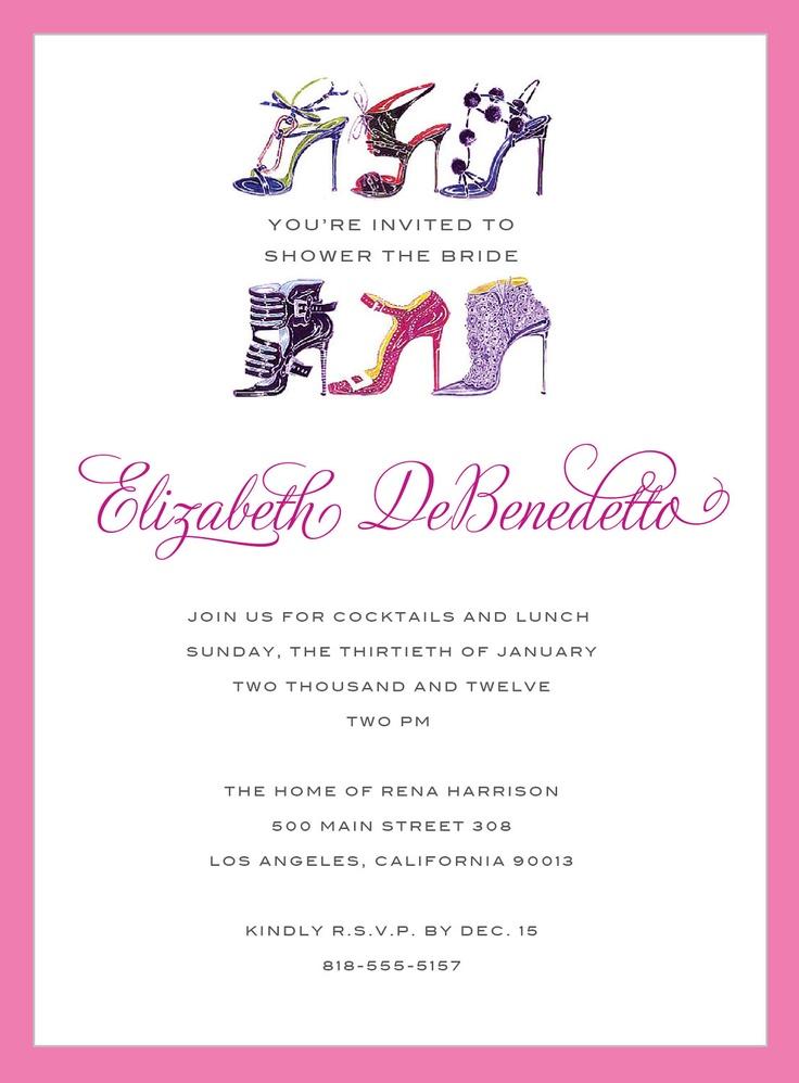 Custom Design Invitations Invite Bridal Shower Wedding Monolo Shoe High Heels Fashion 5000