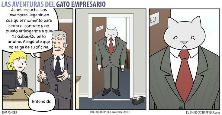 Business Cat - Atrapado