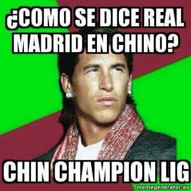 Algunos memes,por la pérdida a la clasificación  de Champions League del Real Madrid,crueles. Lol