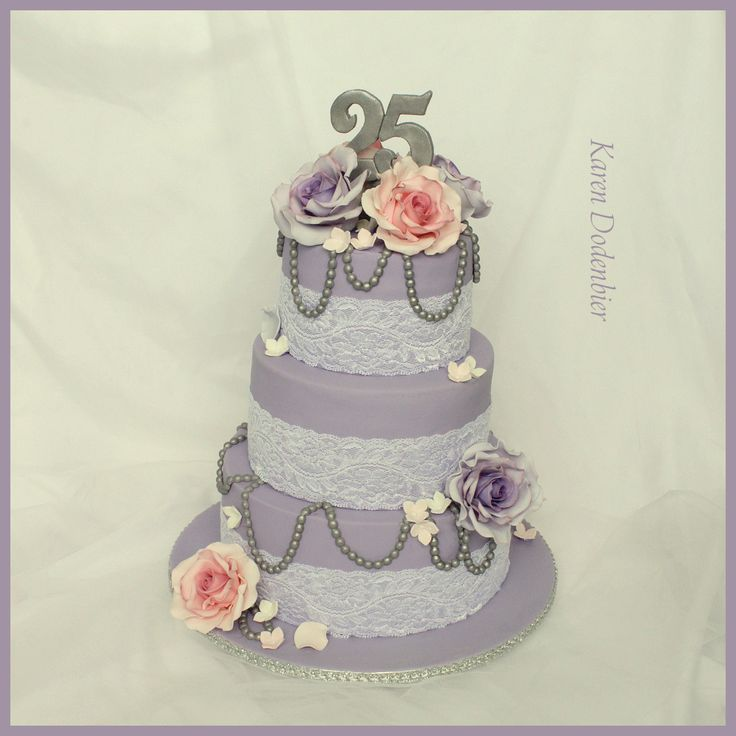 Cake Decorations For 25th Wedding Anniversary : 1000+ ideas about 25th Wedding Anniversary Cakes on ...