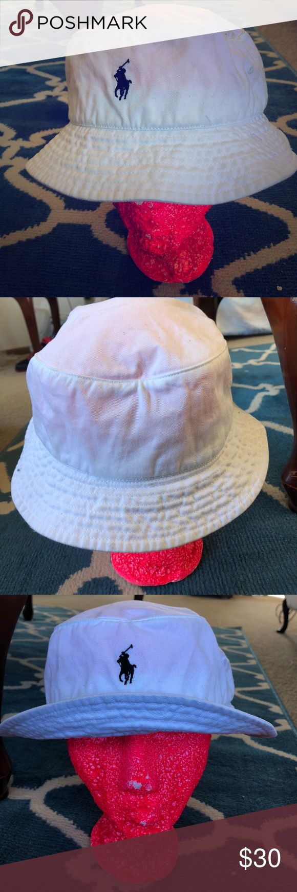 Ralph Lauren bucket hat White bucket hat. Never worn just tried on. I don't like the way it looks with my head shape so I'm selling. Love the style. Polo by Ralph Lauren Accessories Hats