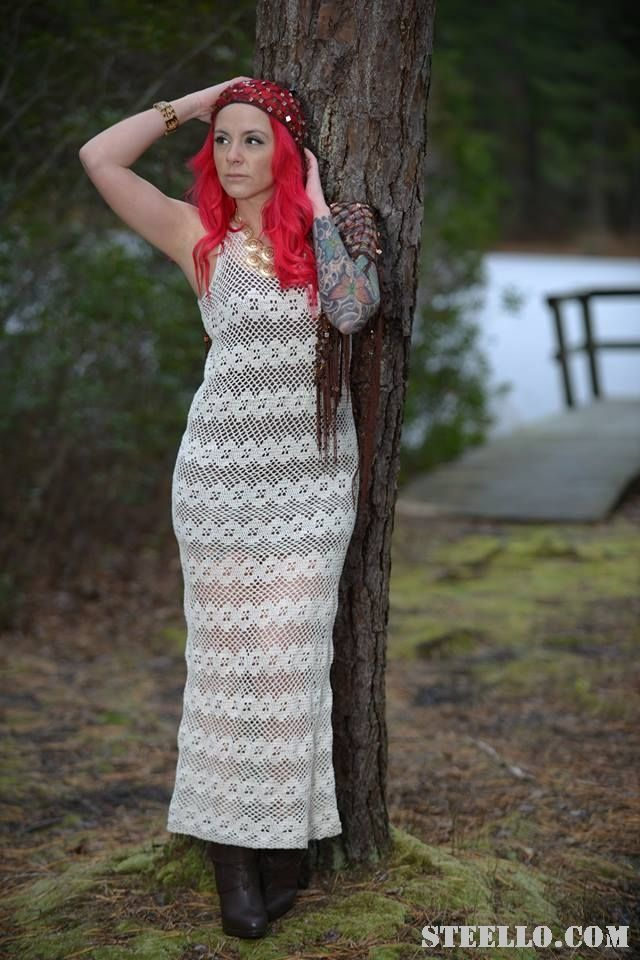Crochet maxi dress by steello.com
