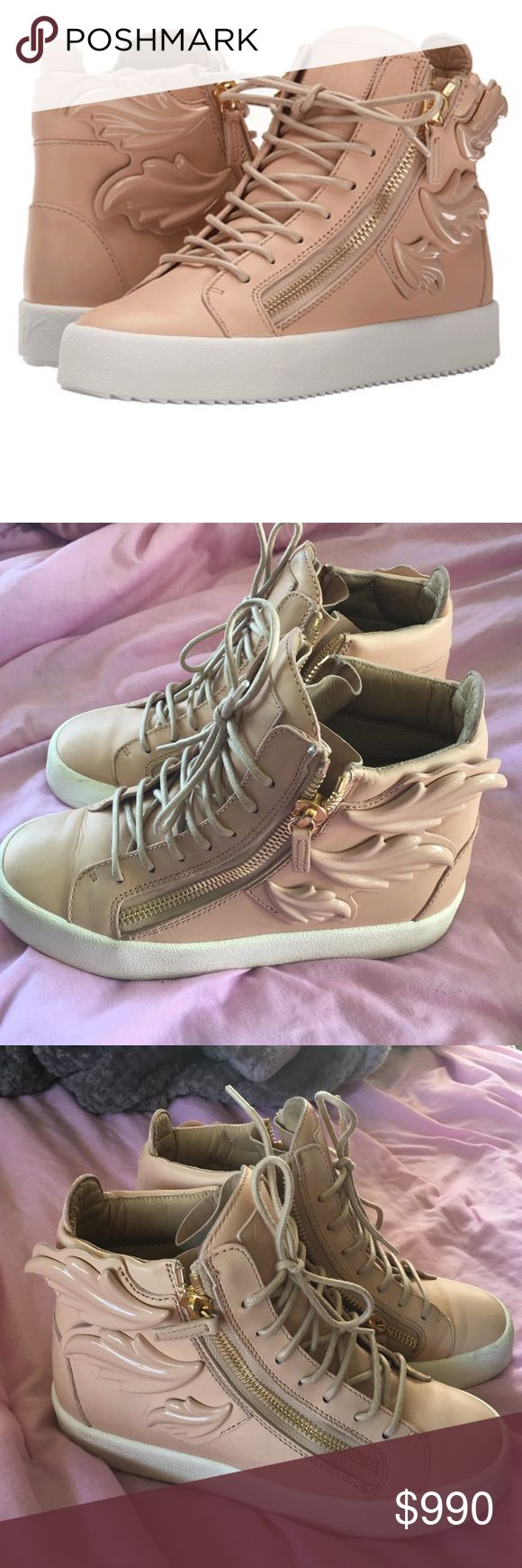 Pink Giuseppe Sneakers Light pink, winged Giuseppe sneakers Giuseppe Zanotti Shoes Sneakers