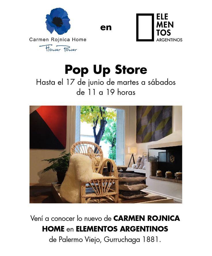 Hasta el sábado que viene todo lo nuevo de Carmen Rojnica Home en Elementos Argentinos Palermo. ¡No se lo pierdan! - Elementos Argentinos