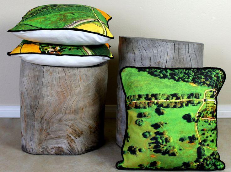 DIY: Two Map Fabric Pillow Tutorials