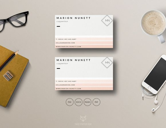 Clean Business Card for Photographer by This Paper Fox on @creativemarket