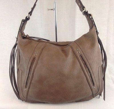 Kathy Van Zeeland Southern Bell Shopper Shoulder Bag Hobo Taupe