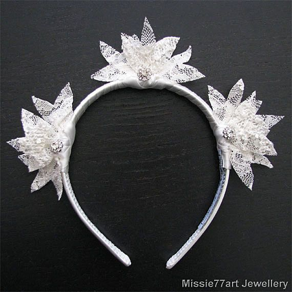 Nalina  Lotus Ivory Lace Wedding Flower by Missie77artJewellery