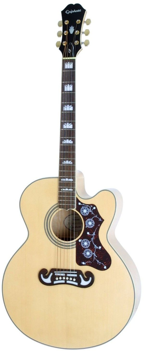 Epiphone EJ-200CE Electro Acoustic Guitar, Natural #epiphone #acoustic #guitar
