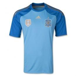 2014 Spain Goalkeeper Blue Soccer Jersey Shirt