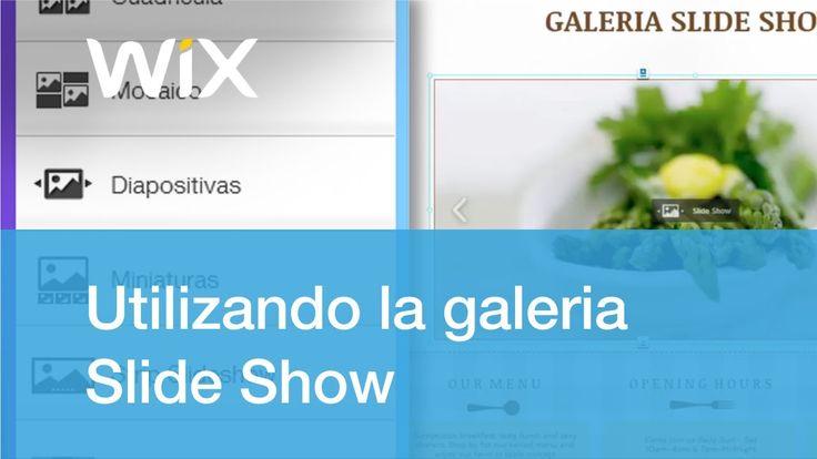 Cómo agregar y personalizar la galeria Slide Show | Wix.com