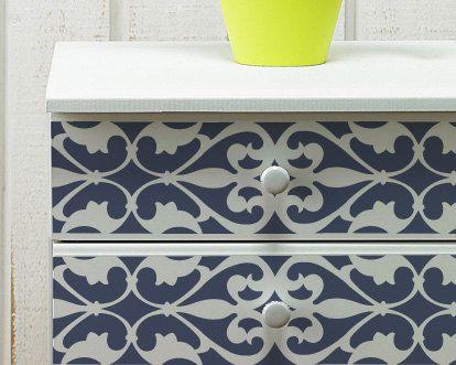 Wall and Furniture Pattern Stencil Medium Florentine Grille Border Stencil Love this stencil pattern!