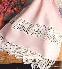 crochet em revista: Toalha de mãos