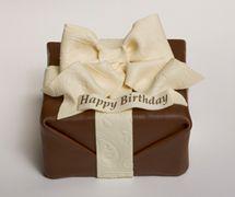 Chocolate Gift Box Cake