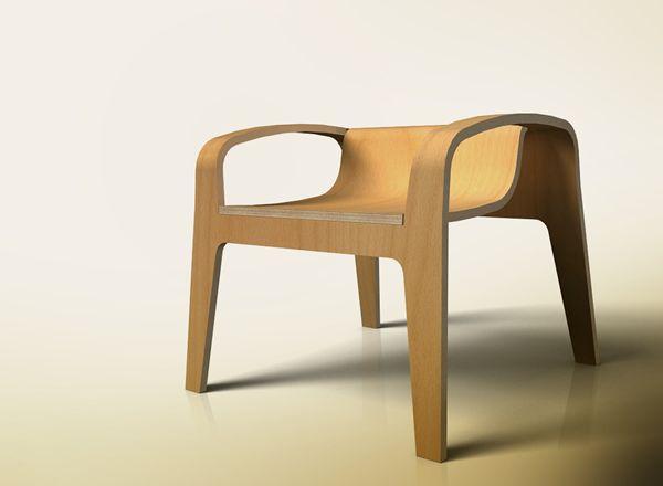 One Piece Plywood Chair. Nice Ideas