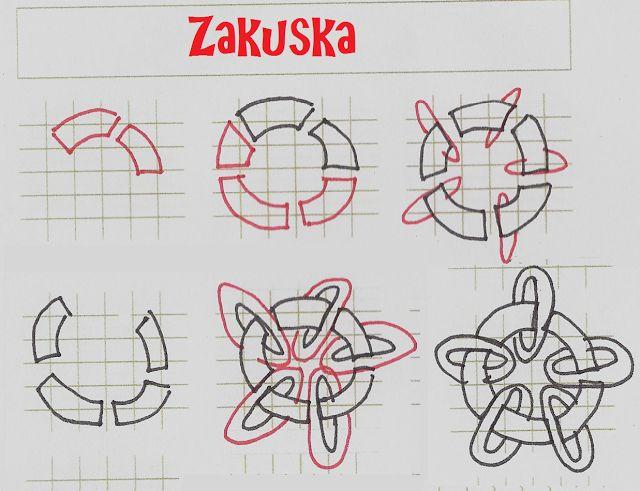 Life Imitates Doodles: tangle patterns