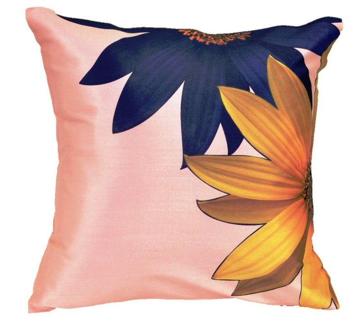 Painted Sun Flower Cushion cover (16x16) #cushions #cushioncovers #pinit #pinterset #shazliving #interior #homedecor Shop at: https://www.shazliving.com/