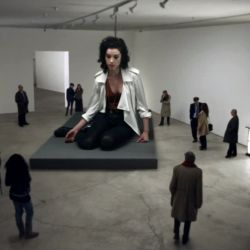 "awesome video. ""Cheerleader"" by St. Vincent."
